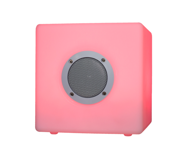 LED Color Light music-box quadro 20x20cm Bluetooth Outdoor Lautsprecher