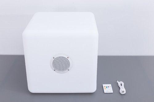 LED Color Light music box quadro 40x40cm Bluetooth Outdoor Lautsprecher
