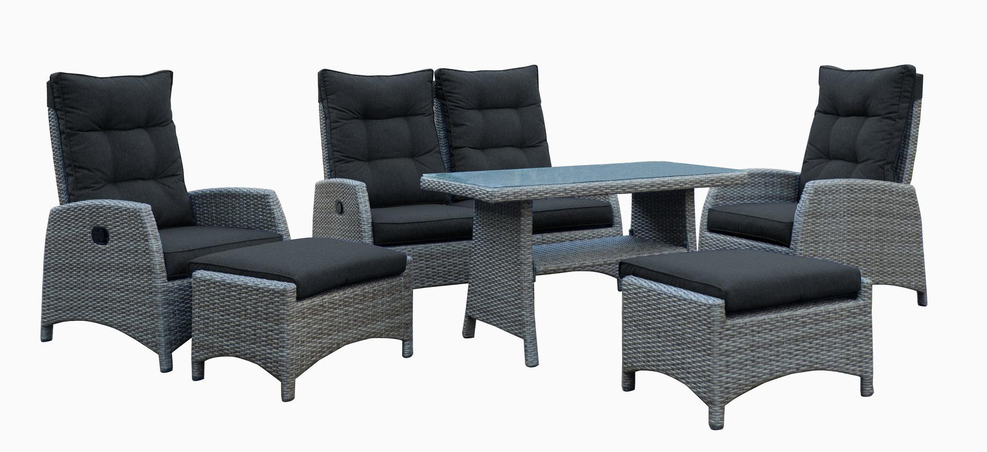 dining lounge set wallis verstellbar durch gasliftfunktion. Black Bedroom Furniture Sets. Home Design Ideas