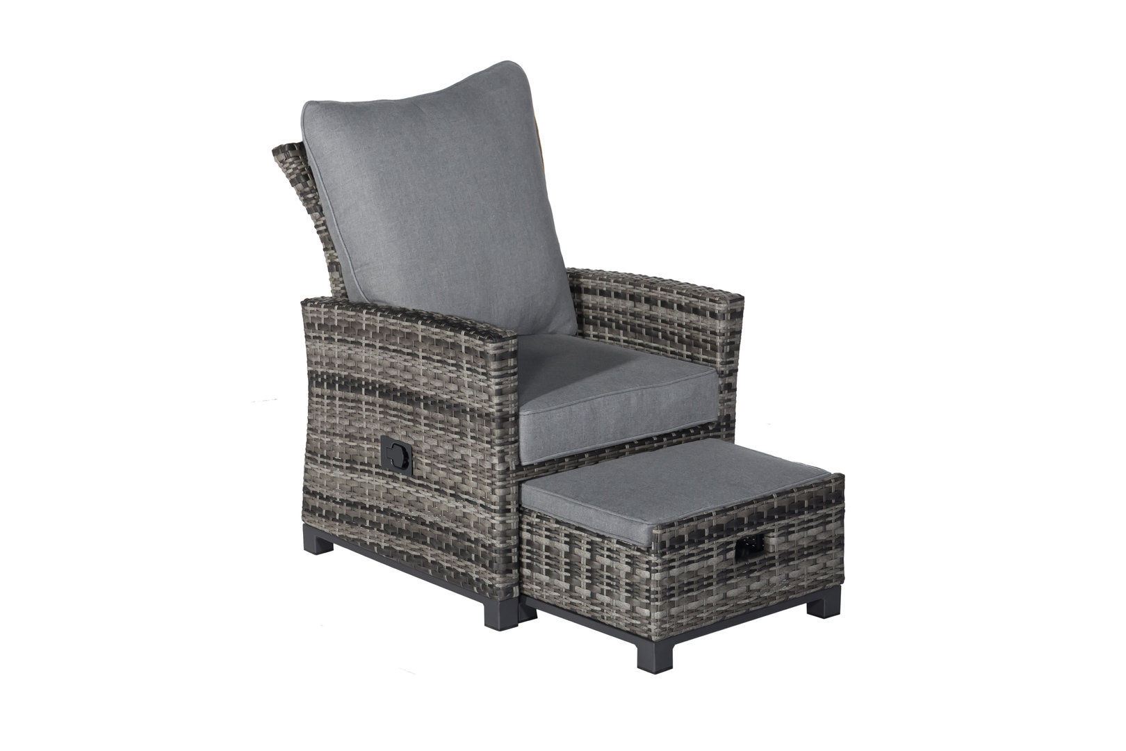 ***Aktion***Lounge Sessel Havanna Deluxe Moon Grey stufenlos verstellbare Rückenlehne & Fußhocker